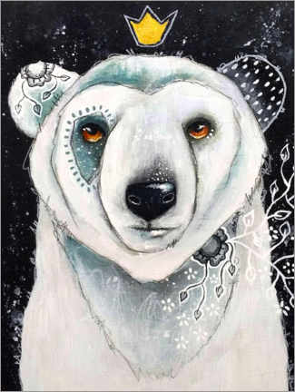 Acrylic print  Polar Bear King - Micki Wilde