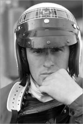 Canvas print  Jackie Stewart, German GP, Nürburging 1966
