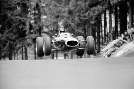 Canvas print  Jackie Stewart at Brunnchen, Nürburgring, German GP 1966