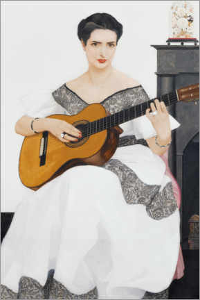 Canvas print  Delfina on guitar - Bernard Boutet de Monvel
