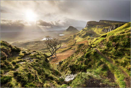 Canvas print  Scottish highlands in stormy weather - The Wandering Soul