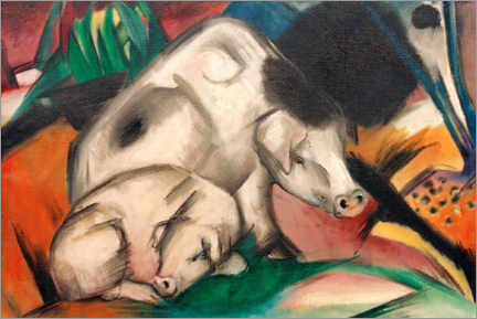 Premium poster  Pigs (mother pig) - Franz Marc
