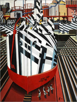 Premium poster  Dazzle ships in Liverpool's dry dock - Edward Wadsworth