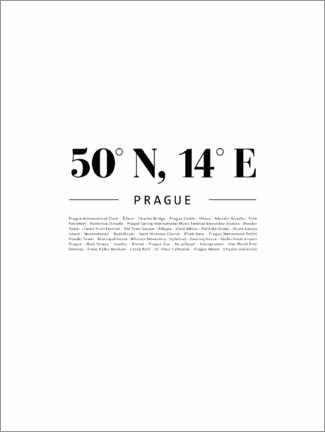 Premium poster  Coordinates - Prague - Finlay and Noa