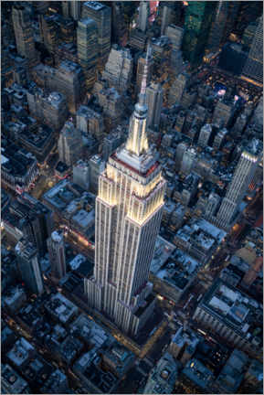 Canvas print  Empire State Building aerial view - Jan Christopher Becke