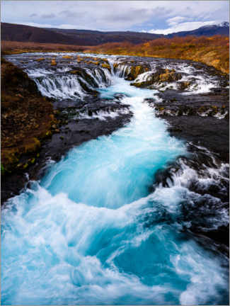 Canvas print  Bruarfoss waterfall, Iceland - Peter Wey