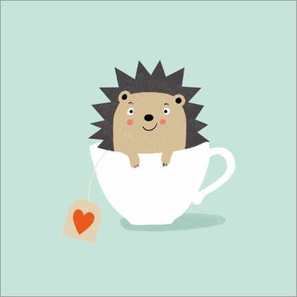 Premium poster  Cups of hedgehogs - Julia Reyelt