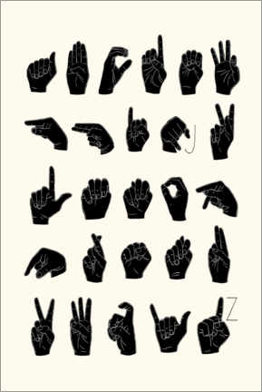 Premium poster  Sign language ABC - Emma Scarvey