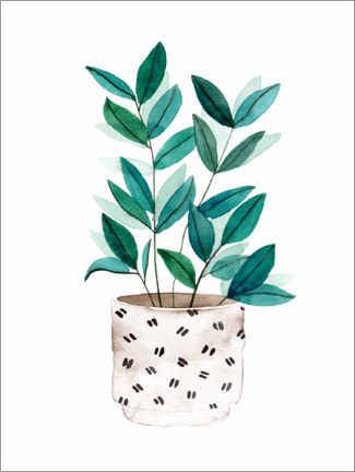 Acrylic print  Delicate plant in a pot - Melissa Wang