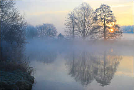 Canvas print  New Year's morning on the Ruhr - Bernhard Kaiser