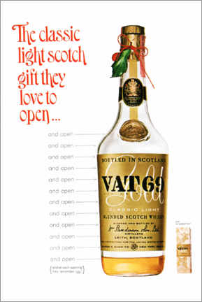 Premium poster  Vat 69 - Advertising Collection