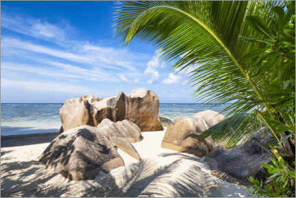 Premium poster Vacation paradise in the Seychelles