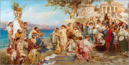 Canvas print  Phryne at the festival of Poseidon in Eleusis - Henryk  Siemiradzki
