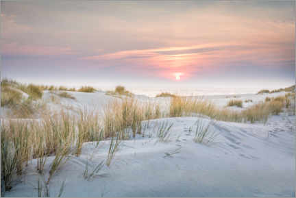 Canvas print  Sunrise in the dunes on Sylt - Christian Müringer