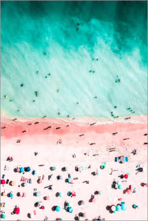 Canvas print  Colorful umbrellas on Bondi Beach, Australia - Radu Bercan