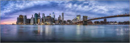 Acrylic print  Manhattan skyline in the evening - Jan Christopher Becke