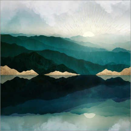Canvas print  Waters Edge Reflection - SpaceFrog Designs