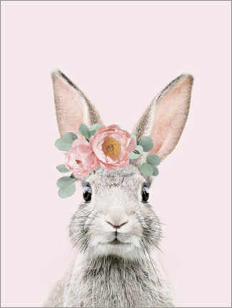 Aluminium print  Flower bunny - Sisi And Seb