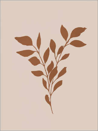 Premium poster Branch on beige