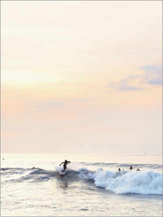 Canvas print  Surfer in the sunset - Sisi And Seb