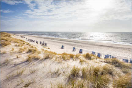 Canvas print  Beach chairs on Sylt beach - Christian Müringer