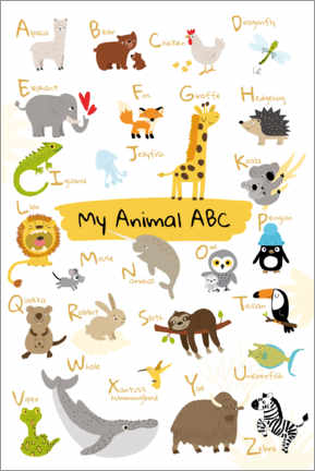 Foam board print  My animal ABC II (English) - Julia Reyelt