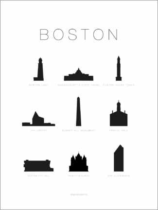Wall sticker  Boston - Schumff