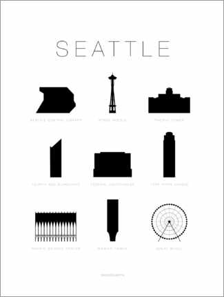 Gallery print  Seattle - Schumff