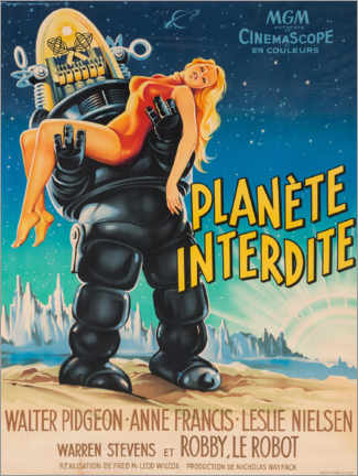Premium poster  Forbidden Planet (French) - Entertainment Collection