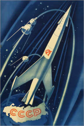 Premium poster  Soviet Space Poster - Advertising Collection