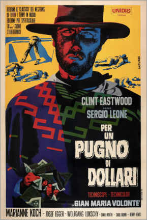 Canvas print  A Fistful of Dollars (Italian) - Entertainment Collection