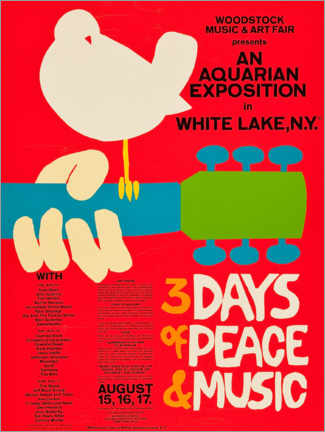 Premium poster  Woodstock Festival - Entertainment Collection