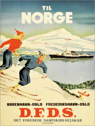 Premium poster  To Norway - Travel Collection