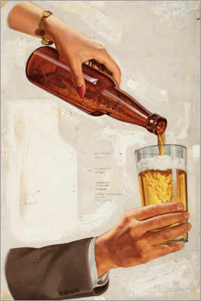 Premium poster  A nice cold beer - Advertising Collection