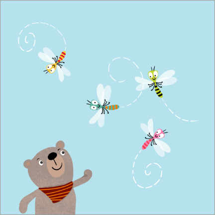 Wall sticker  Bernie with dragonflies - Julia Reyelt