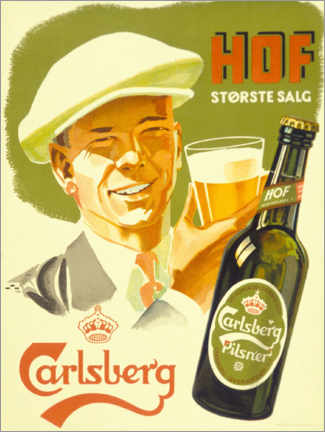 Canvas print  Carlsberg -  Hof Største Salg - Advertising Collection