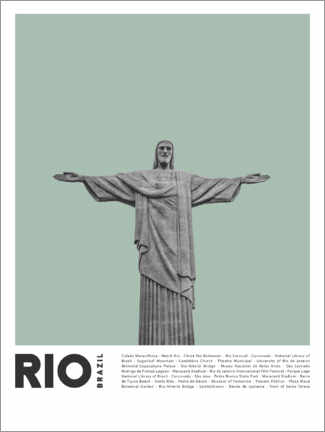 Premium poster  Attractions in Rio - Finlay and Noa