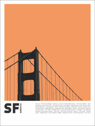 Premium poster  Attractions in San Francisco - Finlay and Noa