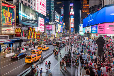 Canvas print  Times Square in New York - Mike Centioli