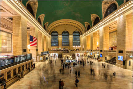 Acrylic print  Grand Central Station in New York - Mike Centioli