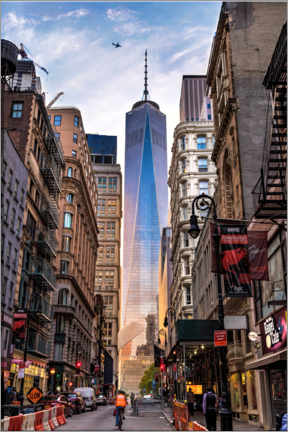 Aluminium print  One World Tower in New York - Mike Centioli