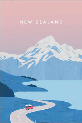 Premium poster  Illustration of New Zealand - Katinka Reinke