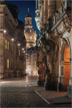 Canvas print  Georgentor and Frauenkirche - Tobias Roetsch