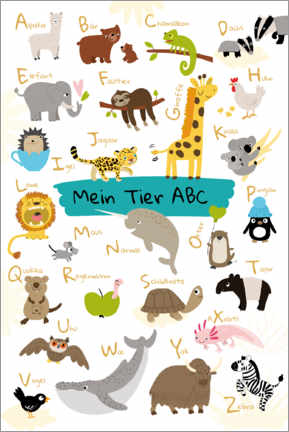 Aluminium print  My animal ABC - Julia Reyelt