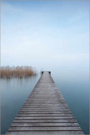 Premium poster Quiet blue on Lake Garda