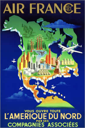 Canvas print  Air France North America Travel - Travel Collection