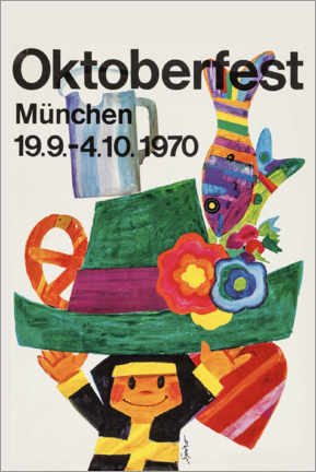Foam board print  Oktoberfest 1970 - Travel Collection