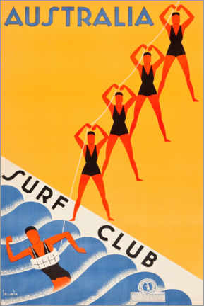 Canvas print  Surf Club Australia - Travel Collection