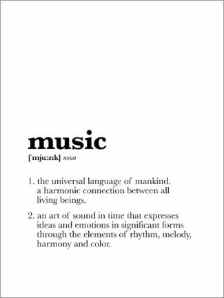 Acrylic print  Music - Definition - Michael Tarassow