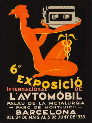 Premium poster  Exposicio international de l'automobil 1933 - Advertising Collection